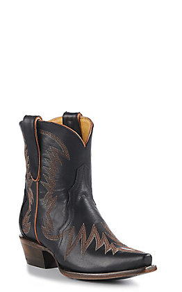 Cavender's By Old Gringo Women's Black Cowhide Snip Toe Western Booties