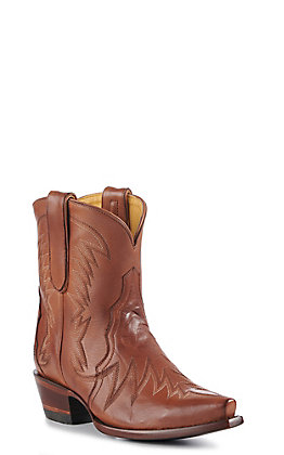Cavender's By Old Gringo Women's Cognac Cowhide Snip Toe Western Booties