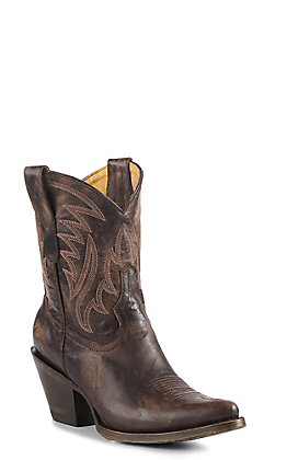 Cavender's By Old Gringo Women's Chocolate Goat Western Booties