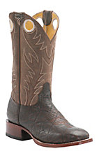Cavender's by Old Gringo Men's Chocolate Elephant Print with Vintage Chocolate Goat Square Toe Western Boots