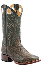 Cavender's by Old Gringo Men's Tan Printed Elephant with Vintage Black Goat Square Toe Western Boots