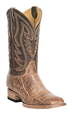 Cavender's by Old Gringo Men's Burnt Tan Caiman Square Toe Exotic Western Boots
