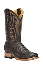 Cavender's by Old Gringo Men's Chocolate Caiman Square Toe Exotic Western Boots