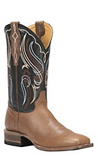 Cavender's by Old Gringo Men's Saddle Tan Smooth Ostrich Square Toe Exotic Western Boots