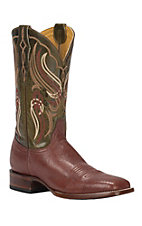 Cavender's by Old Gringo Men's Almond Smooth Ostrich Square Toe Exotic Western Boots