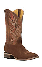 Cavender's by Old Gringo Men's Cognac Hippo Print Punchy Square Toe Western Boots