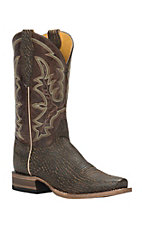 Cavender's by Old Gringo Men's Dark Brown Sanded Shark Print Punchy Square Toe Western Boots