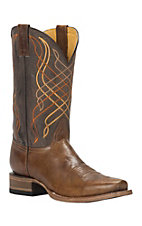 Cavender's by Old Gringo Men's Tan with Brown Top Punchy Square Toe Western Boots