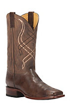 Cavender's by Old Gringo Men's Brown Brick with Tan Top Square Toe Western Boots