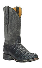 Cavender's by Old Gringo Men's Charcoal Gator-Tail Print Punchy Square Toe Western Boots
