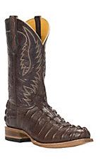 Cavender's by Old Gringo Men's Chocolate Gator-Tail Print Punchy Square Toe Western Boots