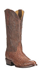 Cavender's by Old Gringo Men's Cognac Full Quill Print with Cognac Mad Dog Upper Western Round Toe Boots