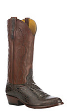 Cavender's Men's Brown Tuscan Alligator Print Western Round Toe Boot