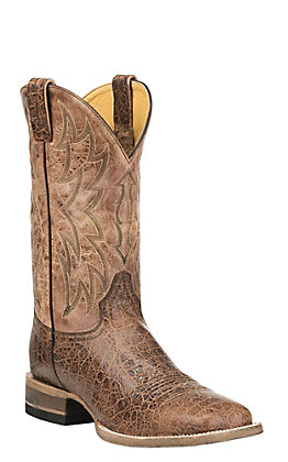 Cavender's by Old Gringo Men's Cognac and Tan Square Toe Western Boots