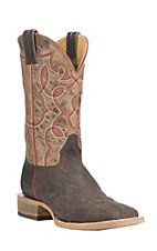 Cavender's by Old Gringo Men's Chocolate with Tan Upper Western Square Toe Boots