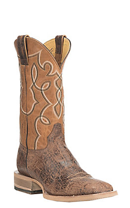 Cavender's by Old Gringo Men's Brown & Caramel Square Toe Western Boots