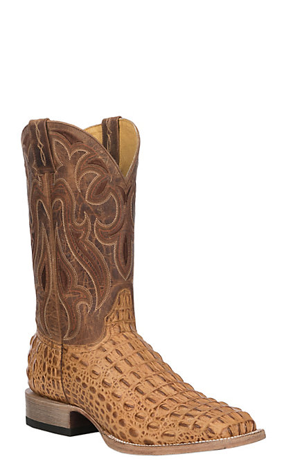 ffd3fb9e793 Cavender's by Old Gringo Men's California Nut Hornback Gator Print Leather  Square Toe Western Boot