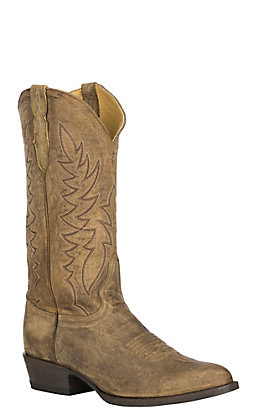 Cavender's by Old Gringo Men's Honey Distressed R-Toe Western Boot