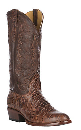 Cavender's by Old Gringo Men's Cognac Tuscan Crocodile Print Round Toe
