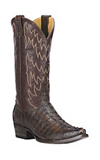 Cavender's by Old Gringo Men's Brown Gator Tail Exotic Snip Toe Boots