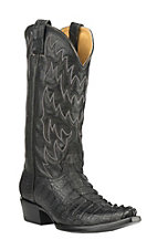 Cavender's by Old Gringo Men's Black Gator Tail Exotic Snip Toe Boots