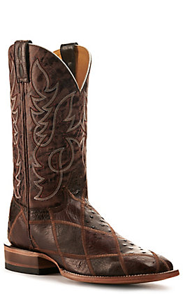 Cavender's by Old Gringo Mens Nicotine & Seinna Patchwork Western Boot