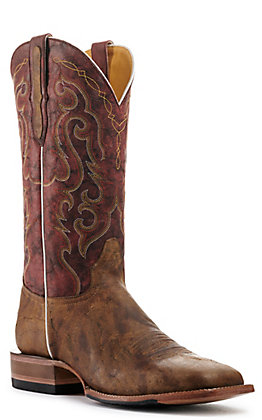 Cavender's by Old Gringo Men's Trinidad Gingerbread and Red Goat Square Toe Western Boot