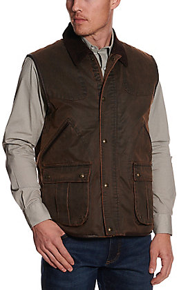 Cripple Creek Men's Brown Enzyme Washed Concealed Carry Vest