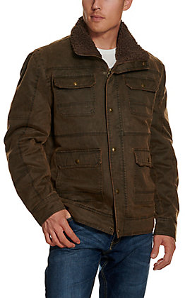 Cripple Creek Men's Brown Enzyme Washed Cotton Concealed Carry Jacket