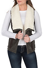 Cripple Creek Ranchwear Women's Brushed Cotton Sherpa Vest