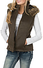 Cripple Creek Ranchwear Women's Quilted w/ Removable Hood Vest