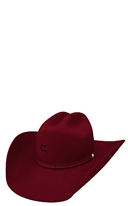 Charlie 1 Horse 4X Burgundy Dime Store Cowgirl Hat