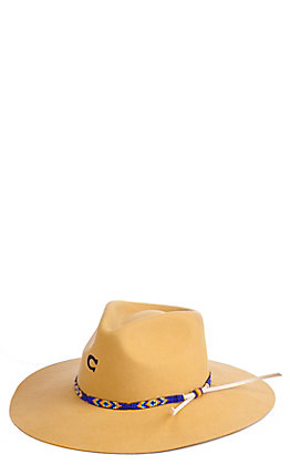 Charlie 1 Horse Cavender's Exclusive Women's Gypsy Mustard Beaded Hat