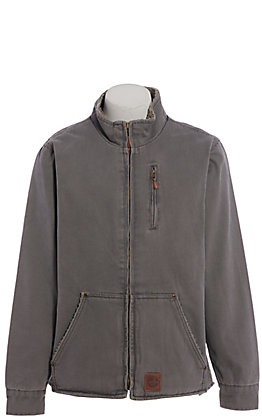Cowboy Workwear Men's Grey Sherpa Lined Jacket