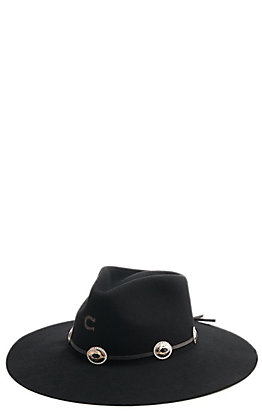 Charlie 1 Horse Women's Traveler Concho Black Hat