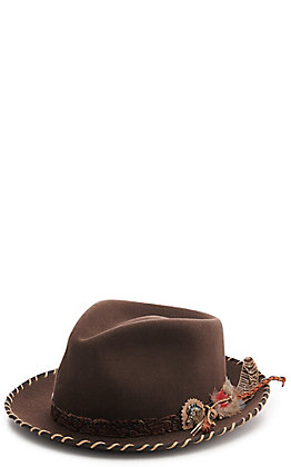 Charlie 1 Horse Wild Horse Chocolate Brown Fedora Hat