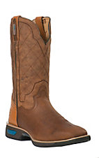 Cinch WRX Men's Commander Cognac and Copper Brown Square Toe Work Boots