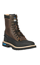 Cinch Men's Carbon Black Tek Tuff Square Toe 9in Lace-Up Work Boots
