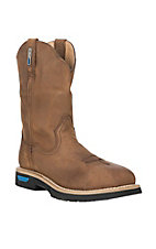 Cinch Men's Brown Waterproof Square Safety Toe Work Boot