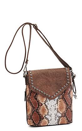Angel Ranch Brown Python Concealed Carry Messenger Bag