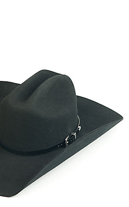 3D Belt Co. Smooth Black Leather Hatband