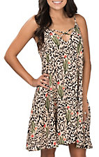 Berry N Cream Women's Cactus Leopard Tank Dress