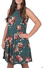 James C Women's Sleeveless Floral Print Dress
