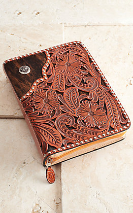 3D Belt Co. Tooled Cowhide Bible Cover