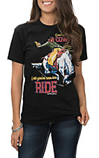 Women's Black Don't Call Him A Cowboy Short Sleeve T-Shirt