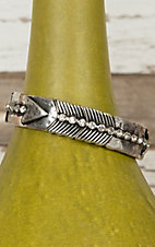 Antiqued Silver Arrow with Rhinestones Stretch Bracelet DE175SL