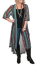 Crazy Train Women's Desperado Serape Print Duster Kimono