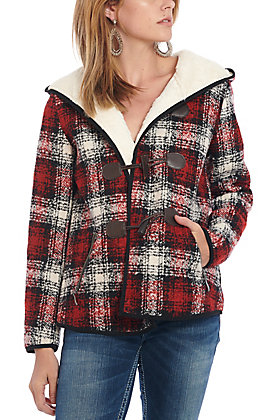 Montana Co. Women's Red Plaid Sage Creek Jacket