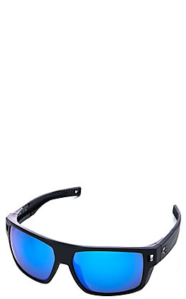 Costa Matte Black Diego Polarized Sunglasses