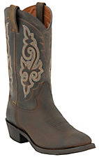 Double H Boots Men's DIstressed Brown R-Toe Western Boots